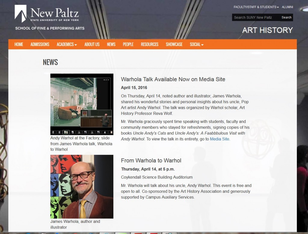 https://www.newpaltz.edu/arthistory/news.html