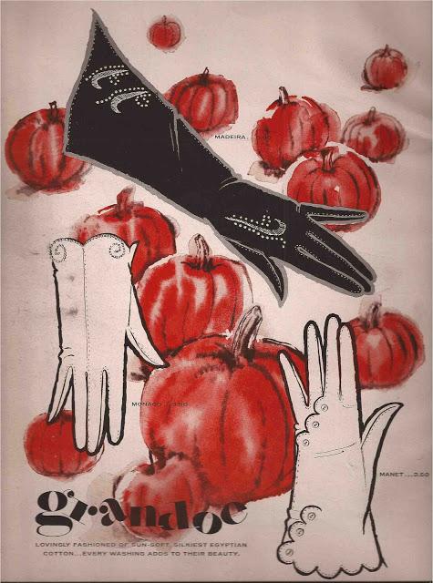 Grandoe Gloves by Andy Warhol, 1956, advertisement for Harper's Bazaar